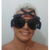 Óculos De Carnaval Preto Arma