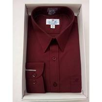 Camisa De Vestir Para Hombre Color Vino