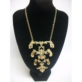 Bisutería Fina: Collar Largo Dorado Elegante Hermoso