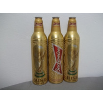 Garrafa Aluminio Budweiser Dourada Taça Copa Do Mundo Cheia
