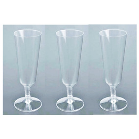 12 Copas Champagne Plástico Champaña Fiesta Boda Bar Xv Dkh