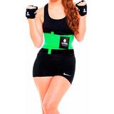 Faja Cinturilla Tecnomed Belt Fitness Verde Colombiana