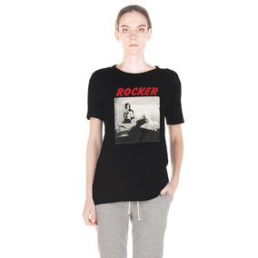 Maria Cher Remera Modelo Masculina Rocker Color Negra