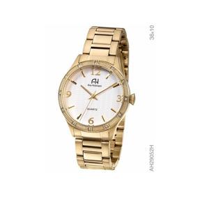 Relógio De Pulso Ana Hickmann Feminino Dourado Ah29052h Loja