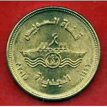 Egipto Moneda Nueva Rama Del Canal De Suez 50 Piastres 2015