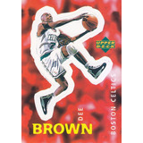 1997 Ud Choice Italian Sticker Dee Brown Celtics #182
