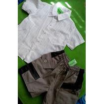 Conjunto De Nene Talle 4 Camisa Y Short De Vestir Merc Pago