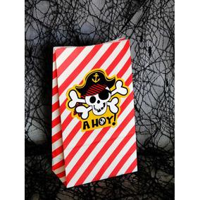 Dulcero Infantil Pirata Bolsa Papel Decorada Recuerdo Regalo