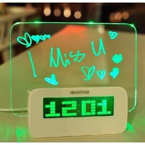 Reloj Despertador En Forma De Pizarrón Con Hub De Usb Hm4