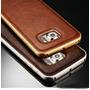 Bumper Alumino Samsung Galaxy S7 Edge Con Dorso De Cuero