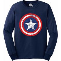 Blusa Capitão America Moletom - Sem Flanela - Super Herois