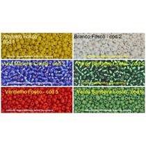 8000 Miçangas Original(vidro) 6/0 - 0,5kg- 1 Cor A Escolher