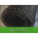 Malla Plástica Romboidal Negra Ancho 1.2 M Oferta!!!!!