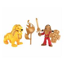 Brinquedo Menino Imaginext Guerreiros Cavaleiro E Leão