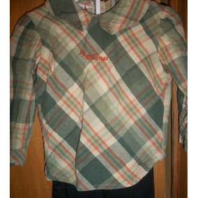 Camisa O Blusa De Nena Viyela Talle 2 Muy Moderna Mas Calza