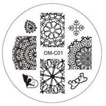 Placa Para Decoración De Uñas Con Sello Om-c01