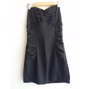 Vestido Fiesta Strapless Negro Talla 44