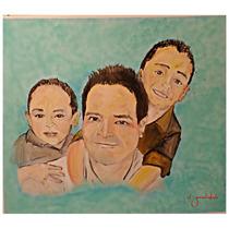 Pintura Al Óleo Retrato Familiar Pintura Familiar