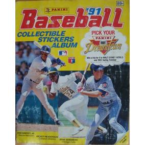 Álbum De Beisbol Mlb 1991, Edit. Panini 100% Lleno