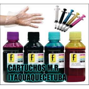 Kit Recarga Cartucho Impressora Hp 400ml Com Seringa Luvas