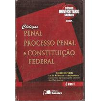 Códigos Penal Processo Penal E Constituição Federal 3 Em 1