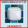 Acabamento Valvula Descarga Lorenzetti Branco P21 P41 L20