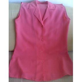 Camisa,blusa Sin Mangas Para Dama Crepe T 1