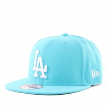Boné Snapback La Dodgers Azul Bebe Basic Fit Aba Reta