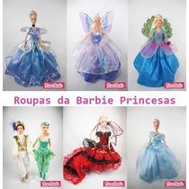 Kit 4 Vestidos De Luxo Roupinhas Para Boneca Barbie Princesa