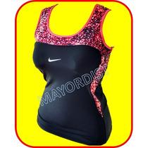 Playera Lycra Dama Deportiva Estampada Lisa Top Blusa Nike