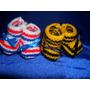 Souvenirs Escarpines De Crochet De Peñarol O Nacional