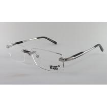 Armação Óculos Grau De Grau Sem Aro Mont Blanc