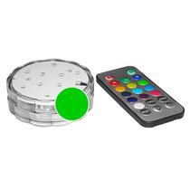 Lámpara Sumergible Con 10 Leds A Control Remoto 13 Colores