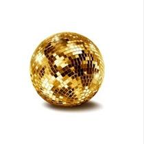 Esfera Espejada Bola Nº 30 Color Naranja Mejor Calidad Gtia