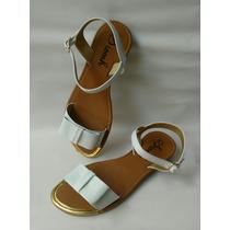 Sandalia Bajita Dama Blanca Zapatos De Moda Envio Gratis