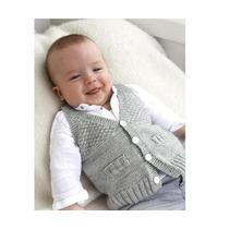 Chaleco Bebé Tejido A Mano - Color A Elección