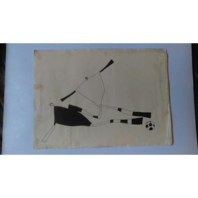 Pintura Obra De Arte Original En Tinta China México 70