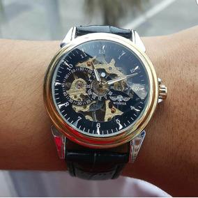 Reloj Winner Gold & Black Skeleton - Mecánico