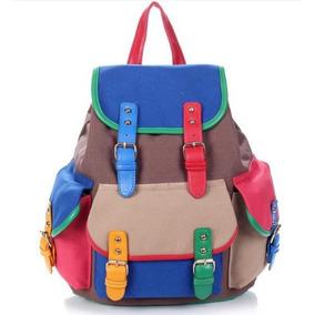 Bolsa Mochila Escolar Backpack Casual Multicolor Importada