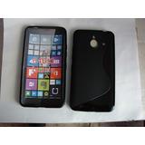Protector Gel Tpu + 2 Cristales Templados Lumia 640 Xl