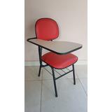 10 Cadeiras (carteiras) Universitárias Vermelhas