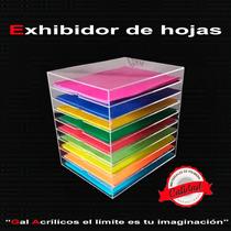 Exhibidor De Hojas Papelera De Acrilico