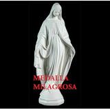 Virgen Medalla Milagrosa, Cemento, 75 Cm. De Altura