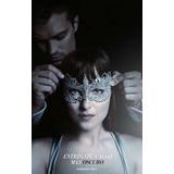 Poster Cine Original Las 50 Sombras Greys Chica Con Antifaz