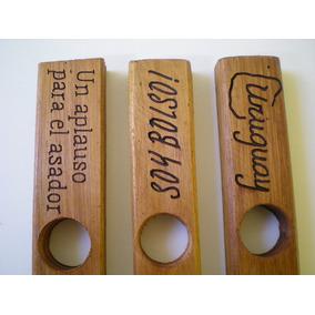 Regalo Empresarial - Porta Vino Rustico Con Logo Grabado