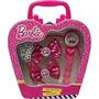 Relógio Barbie + Tiara E Presilhas Conjunto Supremo Candide