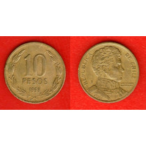 Moeda Chile 10 Pesos 1998 21mm (152m2)