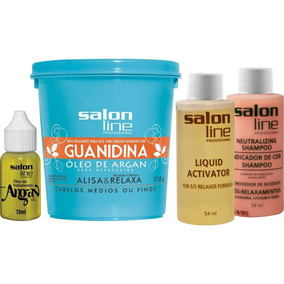 Relaxamento Guanidina Óleo De Argan Regular - Salon Line