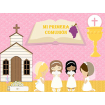 Kit Imprimible Primera Comunión Tarjeta Decoracion Fiesta