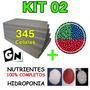 Kit 02 1000lt Fertilizante Espuma Fenólica Hidroponia Sement